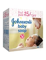Johnson's Baby Soap Enriched with 1/4th Baby Lotion and Vitamin E