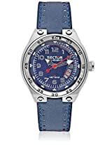 Navy Blue Analog Watch