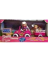 Barbie - Kelly & Tommy Power Wheels Jeep & Wagon Motorized Playset (1997 Mattel, Fisher Price)