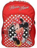 Minnie School Bag Fashion with Pouch, Multi Color (14-inch)