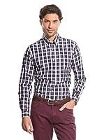 Cortefiel Camisa Cuadro Tartán (Marrón Oscuro)