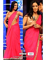 Katrina 60 gm Georgette Pink Bollywood Saree - Bollywood Sarees by dealtz