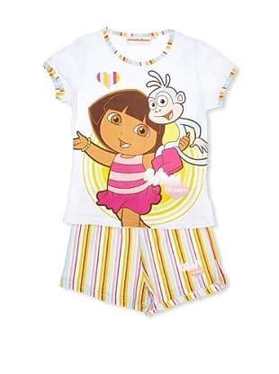 Licencias Pijama Dora Exploradora (Blanco / Celeste / Amarillo)