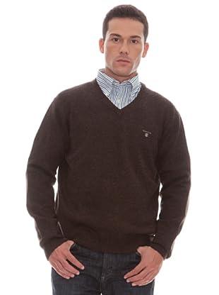 Gant Jersey Liso Pico (marrón)