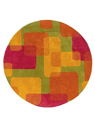Trade-Am Vibrance Miami Round Rug (Lime)