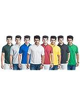 Kaizen SDL624570879 Ble Combo Of 8 Men T Shirts