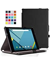 Google Nexus 9 Case - MoKo Slim-Fit Multi-angle Folio Cover Case for Google Nexus 9 8.9 inch Volantis Flounder Android 5.0 Lollipop tablet by HTC, BLACK