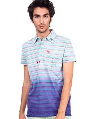 Custo Barcelona Pocke Pypah Water 2295826 Herren Shirts/Polo T-Shirts (Blau)