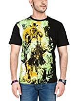 Zovi Mens Cotton T-Shirt (10264306601Xs _Black _X-Small)