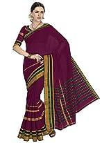 Aadarshini Women's Cotton Saree (110000000079, Maroon)