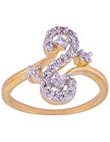Vama Collections One Gram Gold Plated Indian Size-11 Finger Ring For Women (f358)