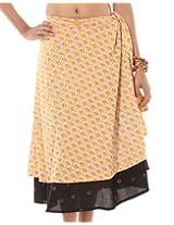 Rajrang Indian Long Women's Wear Cotton Printed Wrap Around Skirt