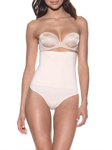 Nearly Nude Women's Ultra Firming Seamless High Waist Thong (Peony Pink)