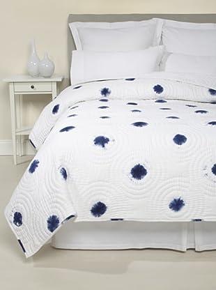 Jaipur Bedding Spot Tie-Dye Quilt (Indigo/White)