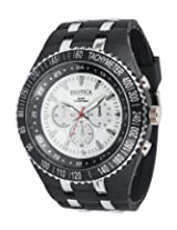 Exotica Silver PU Analog Men Watch EF 01 BW PL