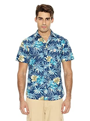 Franklin & Marshall Camisa Wilcox Flores (Azul)