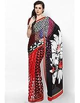 Multicolor Printed Georgette Saree Satya Paul
