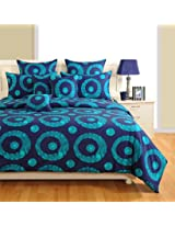 Swayam Zinnia Collection Printed 4 Piece Cotton Bed in a Bag Set - Multicolour