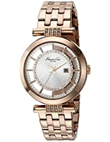 Kenneth Cole Transparency Digital Silver Dial Women's Watch - 10021106