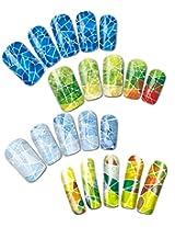 Mosaic Patterns Water Nail Tattoo Transfers, Set of 4
