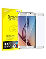 S6 Edge Screen Protector, JETech 0.2mm Thinnest Full Screen 5.1 Inch Premium Tempered Glass Screen Protector Film for Samsung Galaxy S6 Edge (White)