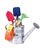 Kids Garden Tool Gift Set, With Watering Can And Gloves