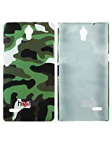 Heartly Army Style Retro Color Armor Hybrid Hard Bumper Back Case Cover For Huawei Ascend G700 - Army Green