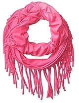 Accessories 22 Girls' Bubblegum Fringe Loop Scarf