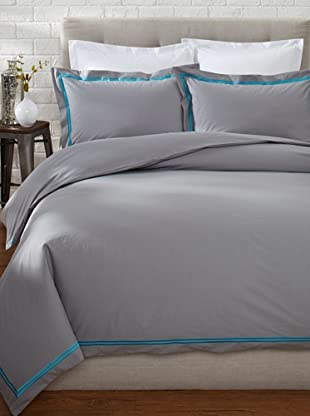 Mason Street Textiles Two Cord Duvet Set (Grey/Artic Blue)