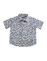 Peach Boys Short Sleeve Blue Animal Print Shirt