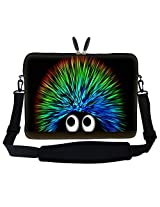 Meffort Inc 17 17.3 inch Laptop Sleeve Bag Carrying Case with Hidden Handle and Adjustable Shoulder Strap - Cute Porcupine Design