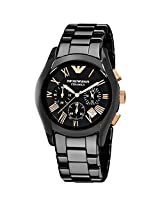 Emporio Armani AR1410 Black Ceramic Mens Watch
