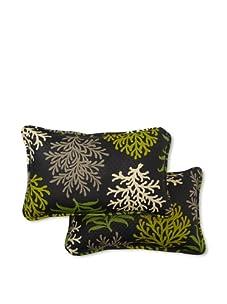 Waverly Set of 2 Sun-n-Shade Marine Life Rectangle Decorative Throw Pillows (Onyx)