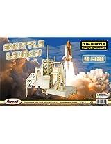 Puzzled, Inc. 3D Natural Wood Puzzle - Shuttle Launch