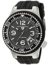 Swiss Legend Watches, Men's Neptune Automatic Black Dial Black Silicone, Model 11819A-01-W