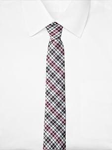 Original Penguin Men's Firecrest Plaid Tie (Magenta)