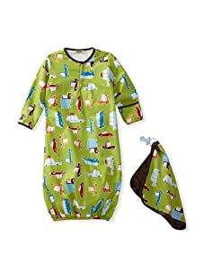 My Blankee Baby Woven Sleeper and Blankie Set (Road Trip Lime Green)