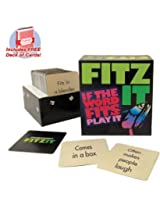 Fitz It board game with free deck of standard playing cards