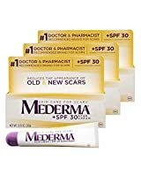 Mederma Scar Cream + SPF 30 Sunscreen, 0.7 Ounce, Pack of 3