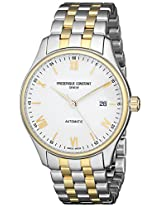 Frederique Constant Men's FC- 303WN5B3B 'Index' White Dial Two Tone Stainless Steel Swiss Automatic Watch