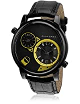 Giordano Analog Multi-Color Dial Men's Watch - 60058 Black/Yellow