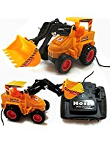 Wired Remote Control Battery Operated JCB Crane Truck Toys, Battery (Included)