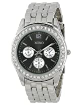 XOXO Womens XO5208 Black Dial Silver-tone Bracelet Watch