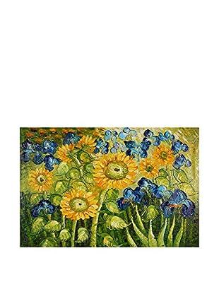 Arte Dal Mondo Ölgemälde auf Leinwand Van Gogh Girasoli Ed Iris