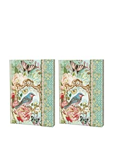 Punch Studio Set of 2 Journals with Magnetic Flap Closure, Bird