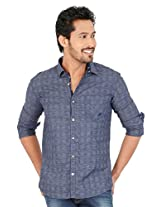 KILLER Blue Cot Casual Shirt