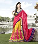 Saree Lehenga Style Santhgram - Yellow & Red