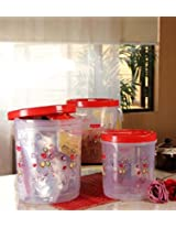 Princeware Twister Container Set Red - 3 Containers with Total 22 litre Capacity
