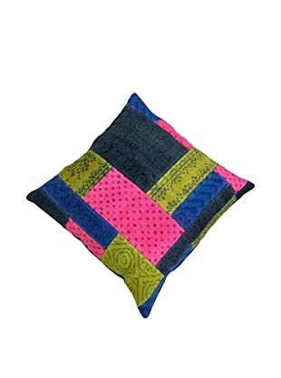 Modelli Creations Natural Fiber Square Dhurrie Pillow, Pink