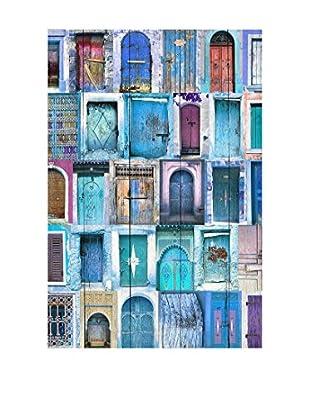 Really Nice Things Holztafel Doors Blue